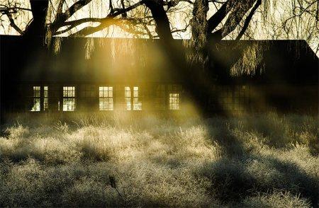 Back-lit Barn